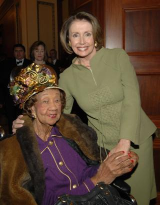 Dr. Dorothy I. Height and Speaker Nancy Pelosi by Flickr user Leader Nancy Pelosi