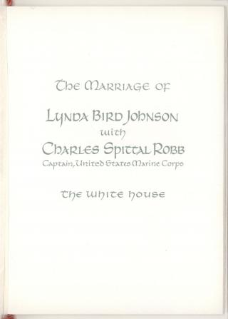 Wedding Program, 9 December 1967 by Flickr user Marine Corps Archives & Special Collections