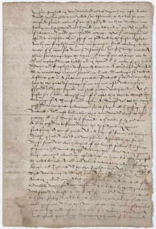 [Signed letter to] Roger Townshend, London, 1589 April 11 by Flickr user Beinecke Flickr Laboratory