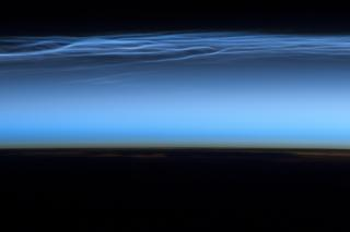 Polar Mesospheric Clouds, Northern Hemisphere by Flickr user NASA Goddard Photo and Video