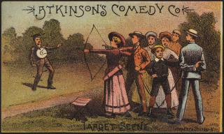 Atkinson's Comedy Co., 'Target scene.' (front) by Flickr user Boston Public Library