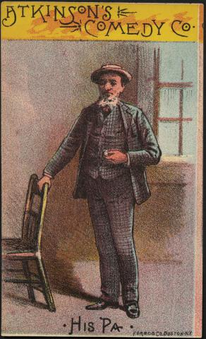 Atkinson's Comedy Co., his pa. (front) by Flickr user Boston Public Library