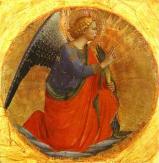 Fra Angelico Perugia Triptych Angel of the Annunciation 1437 by Flickr user carulmare