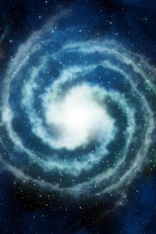 iPhone Background - Spiral Galaxy by Flickr user Patrick Hoesly