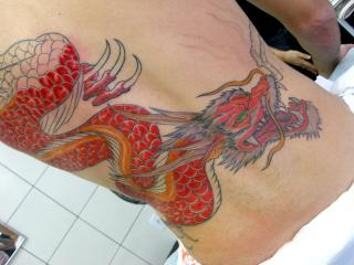 Tatuagem Dragão Red Dragon Tattoo by Flickr user micaeltattoo