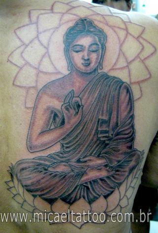Tatuagem Buda Tattoo by Flickr user micaeltattoo