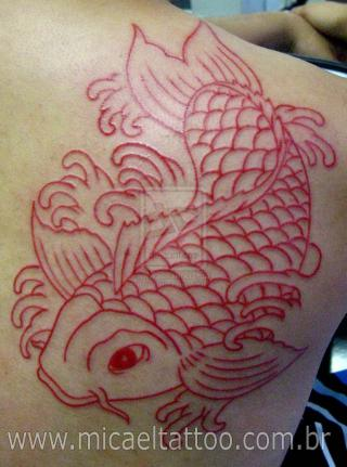 Tatuagem Carpa Koy Tattoo by Flickr user micaeltattoo