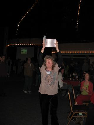 Christina carrying Bob's ashes by Flickr user DBerry2006