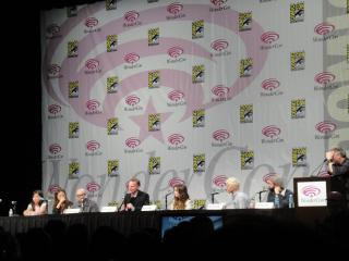 WonderCon 2011 - Priest 3D panel - Min-Woo Hyung, Paul Bettany, Lily Collins, Cam Gigandet, Scott Stewart by Flickr user Doug Kline