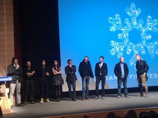 Cast of Margin Call including Kevin Spacey, Zach Quinto, Demi Moore, Jeremy Irons, Paul Bettany etc at Sundance by Flickr user jenny8lee