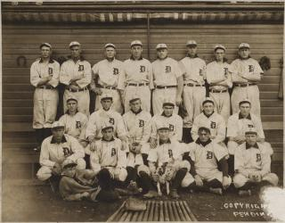 Detroit Tigers, Champions of the American League in 1907 by Flickr user Boston Public Library