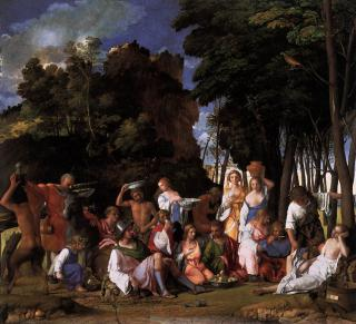 [ B ] Giovanni Bellini - The Feast of the Gods (1514) by Flickr user Cea.