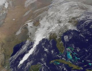 "GOES-13 Satellite Sees ""Giant White Spike"" of Clouds Bringing U.S. Severe Weather by Flickr user NASA Goddard Photo and Video"
