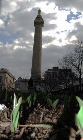 Washington Monument, St. Patrick's Day by Flickr user sidewalk flying