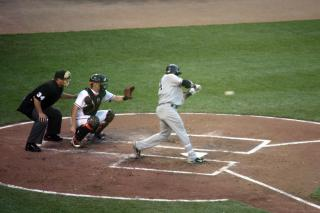 Cano makes contact by Flickr user jcantroot