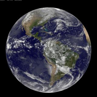 Satellite View of the Americas on Earth Day by Flickr user NASA Goddard Photo and Video