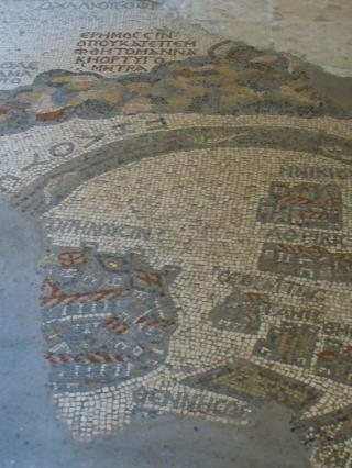 Madaba Map in the Church of St. George (II) by Flickr user isawnyu