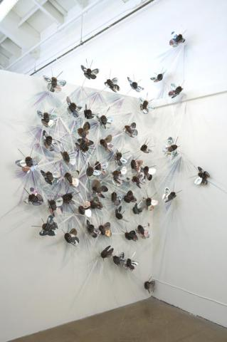 Ana Labastida - Pullulate (partial view) by Flickr user SWARM GALLERY OAKLAND